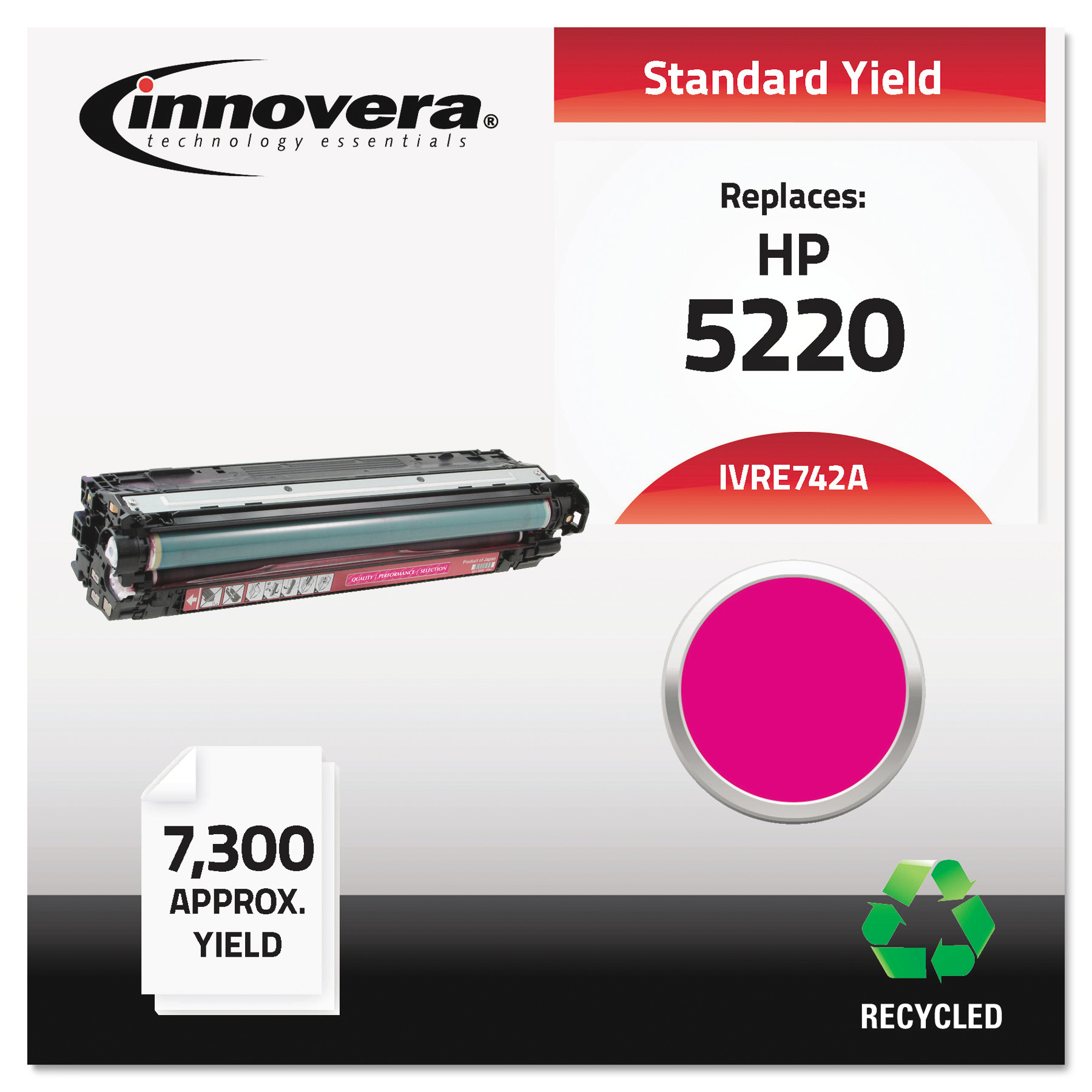 Innovera Remanufactured CE743A (CP5225) Magenta Toner Cartridge