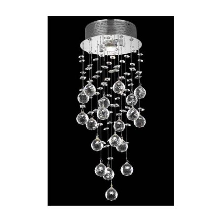 Galaxy 1 light Chrome Flush Mount Clear Elegant Cut Crystal