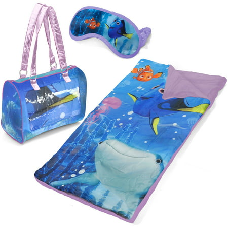 Girls Sleepover Set - Finding Dory Sleepover Purse Set with Eyemask