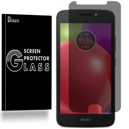 Motorola Moto E4 Plus [2-Pack BISEN] Privacy Tempered Glass Screen  Protector, Anti-Spy [Keep your screen secret]