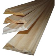Alexandria Moulding 0W390-20096C1 8 ft,. Chair Rail Solid Pine Moulding, Pack Of 4