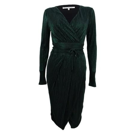 Rachel Roy Rachel Rachel Roy Womens Metallic Faux Wrap Dress Xs