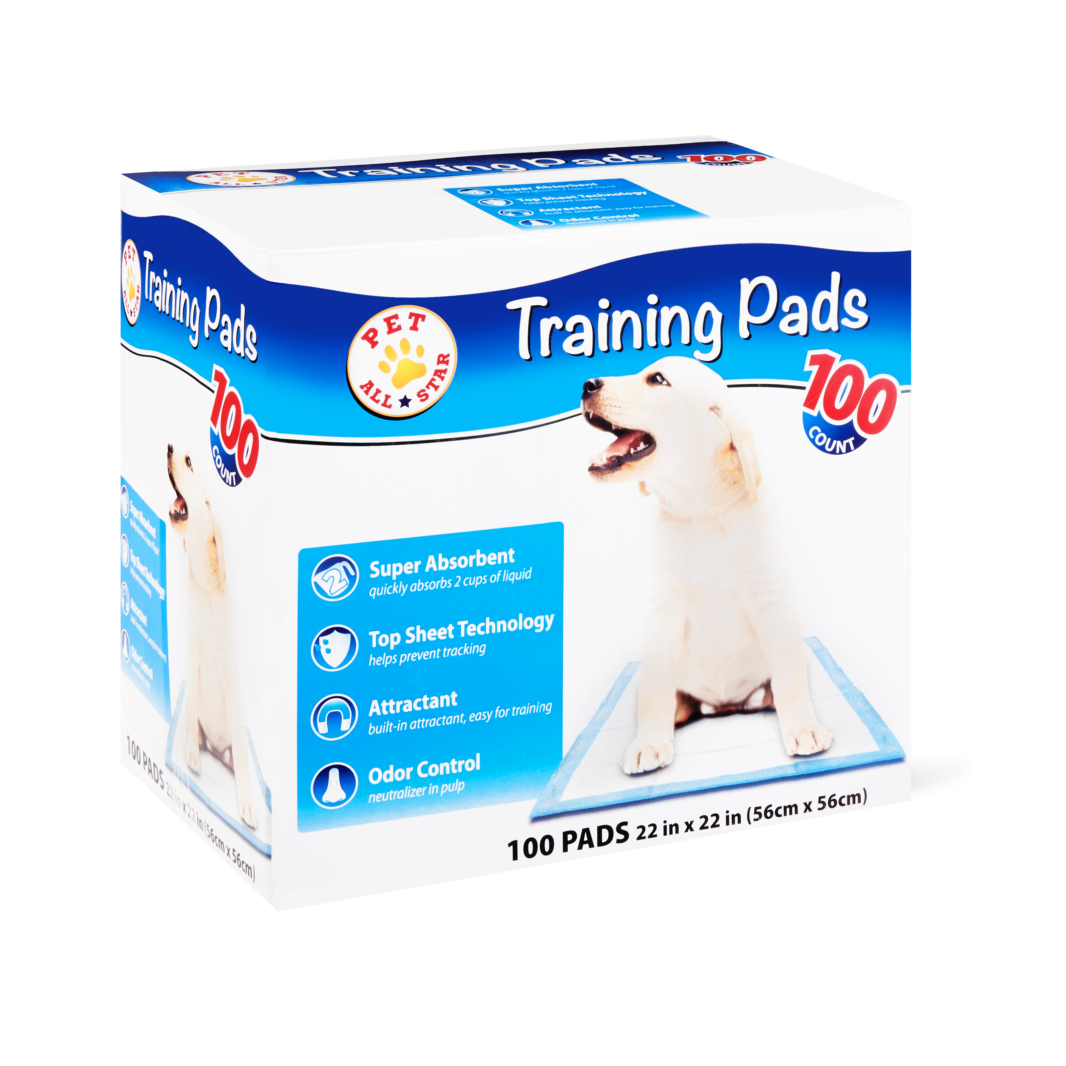 100 Count Pet All Star 22 in x 22 in Training Pads