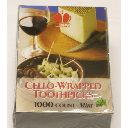 Cello-Wrapped Mint Toothpicks (RIW15) Sold as Case