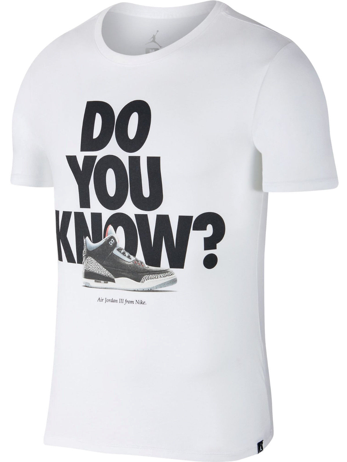 7482172d6d01c7 Jordan - Jordan Men s Retro 3 Do You Know T-Shirt White - Walmart.com
