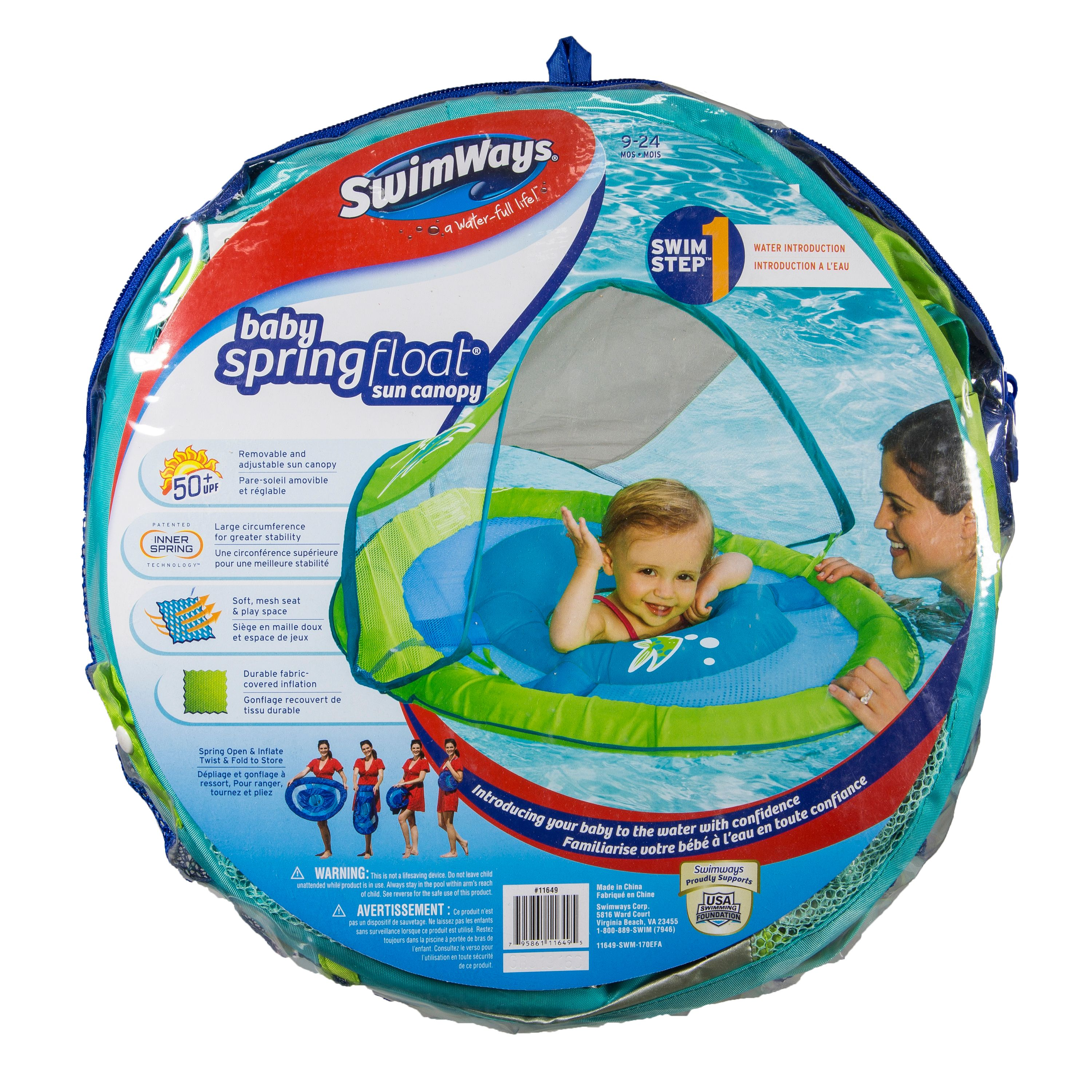 Swimways - Baby's Spring Float with Canopy