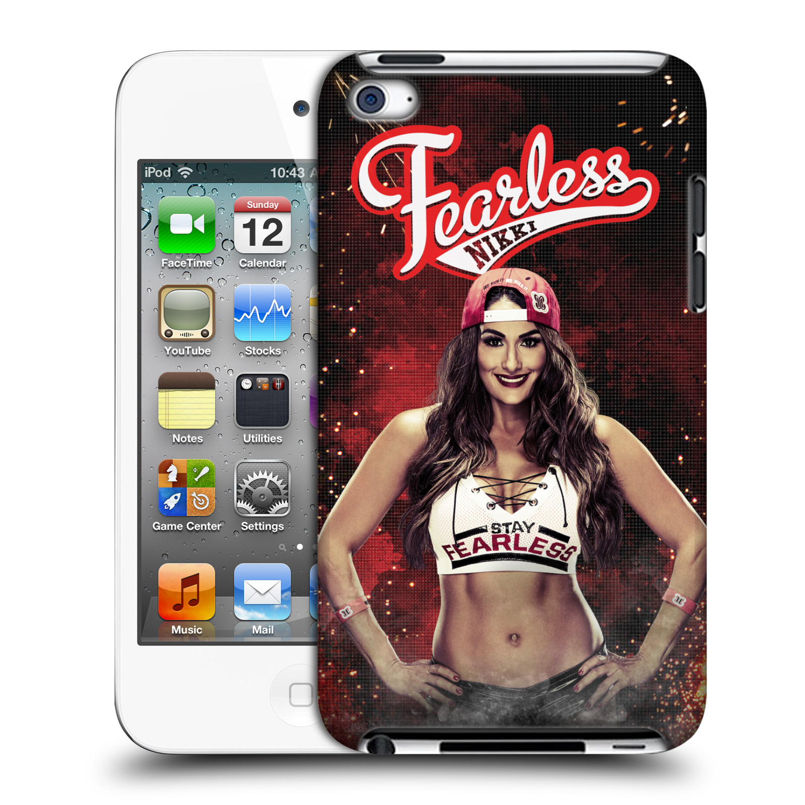 OFFICIAL WWE NIKKI BELLA HARD BACK CASE FOR APPLE IPOD TOUCH MP3