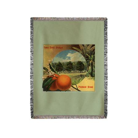 Piedmont Brand   California   Citrus Crate Label  60X80 Woven Chenille Yarn Blanket