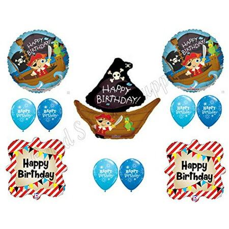PIRATE SHIP Birthday Balloons Decoration Supplies Party Skull Crossbones Boy
