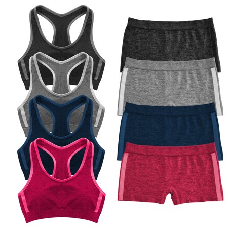 Popular Girl's Seamless Racerback and Boyshort