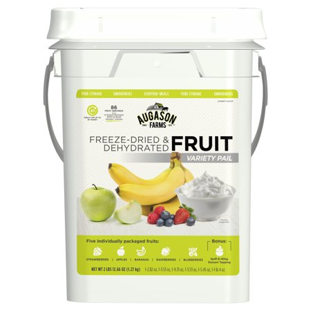 Augason Farms Fruit Variety Pail Long Term Food 4 Gallon
