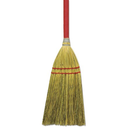 Straw Broom - Blended Straw Toy Broom, Red Headband, 24
