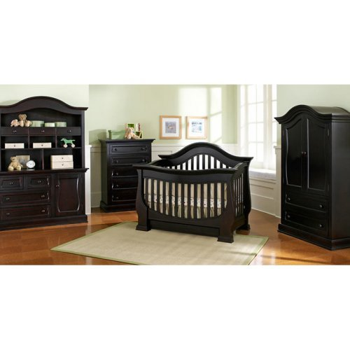 Baby Appleseed Davenport 3 In 1 Convertible Crib   Espresso