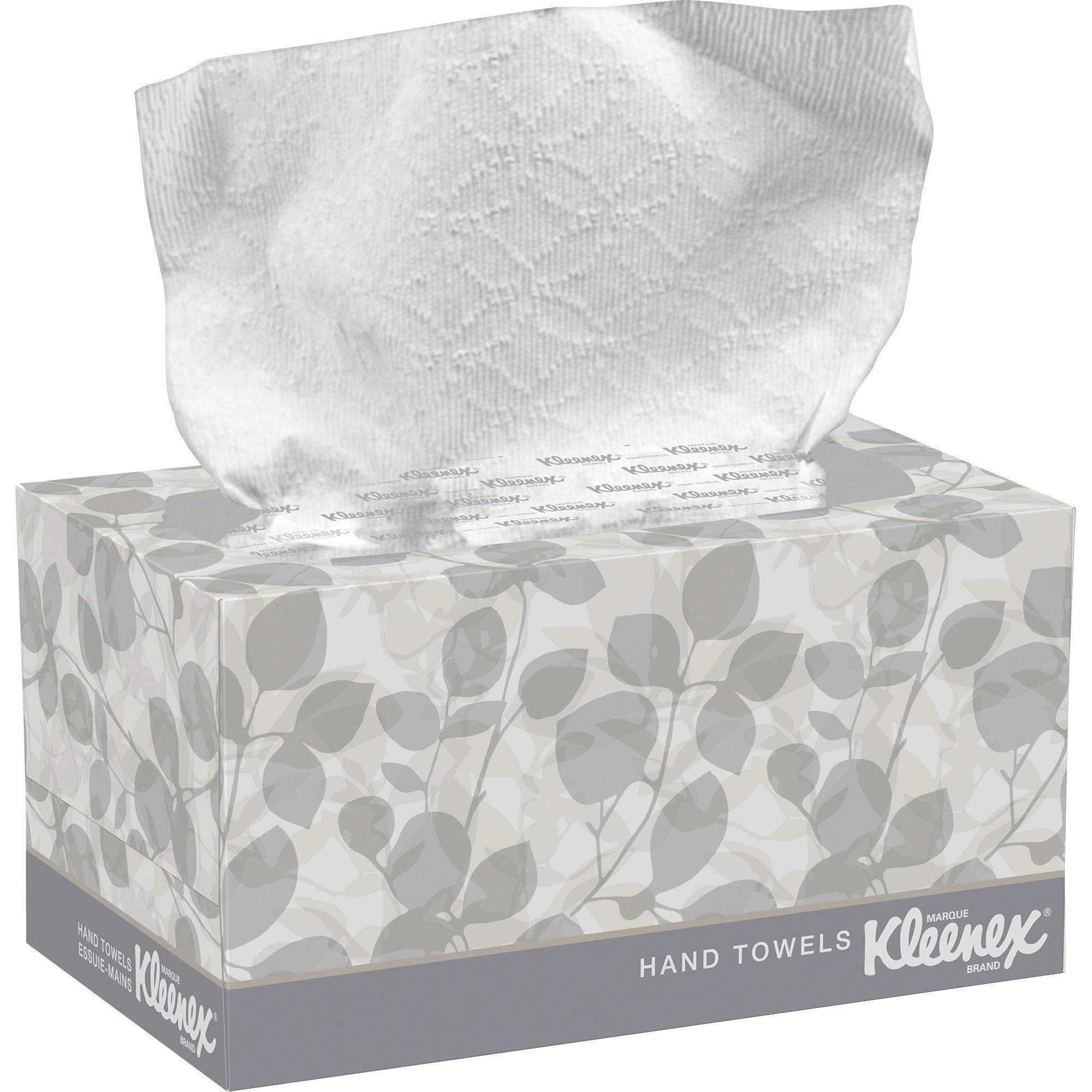 Kimberly-Clark, KCC01701, Kleenex Boxed Hand Towels, 120 / Box, White