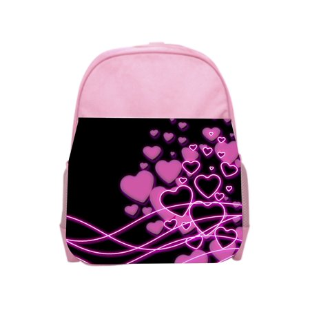 Retro Hearts Pink Girls Preschool Toddler Backpack & Lunch Box Set