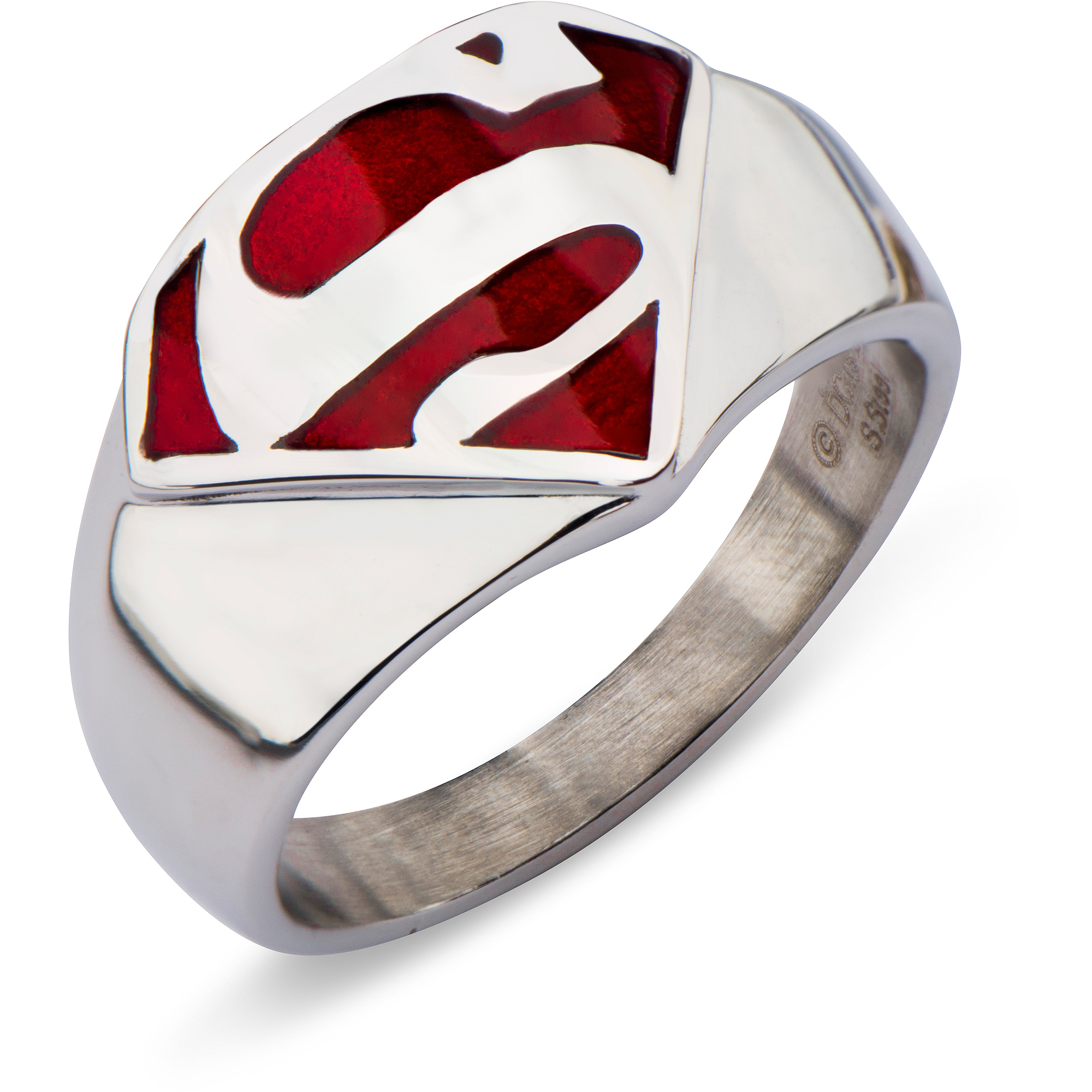 around symbols very cool dc friendship male all pin ring rings with krypton superman