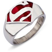 Superman Red Translucent Symbol Ring-ring size 9