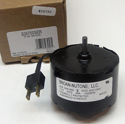 S 26750SER Broan Nutone Bathroom Fan Vent Motor OEM JA2C134N 26750
