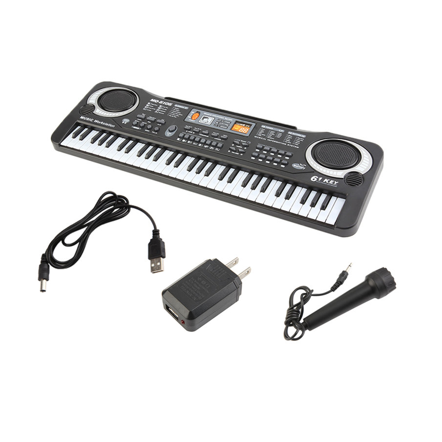 6104 Children Electric Piano 61 Keys Music Electronic Keyboard Kid Electric Piano Organ Perfect Birthday Gift US Plug Type