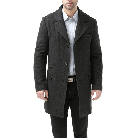 Single Breasted Wool Blend (Men's 'Jacob' Wool Blend Single Breasted Walking)
