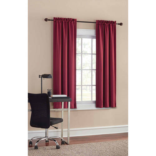 Mainstays Thermal Solid Woven Window Panel Pair, Multiple Colors