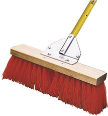 Midwest Rake Street And Landscape Broom, 18 In. With 60 In. Ergonomic Aluminum Handle