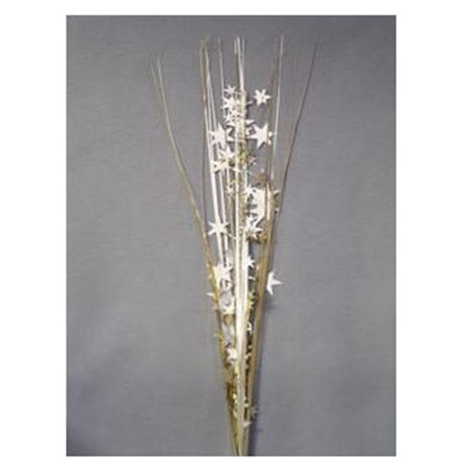 Party Deco 06549 21 in. Iridescent White Stars Spray Bulk - Pack of 13