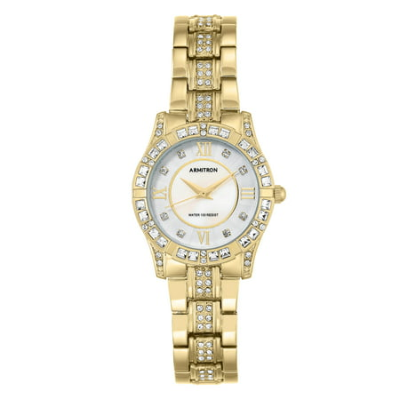 Gold Tone Floating Crystal Watch - Women's Gold-Tone Crystal Dress Watch