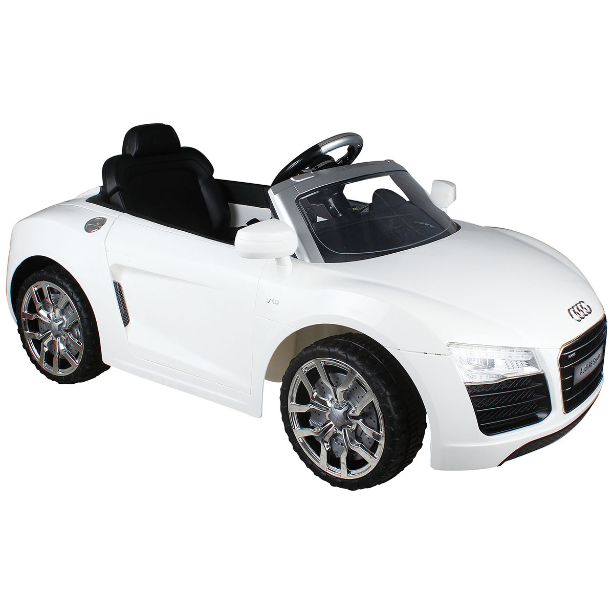 Costway White Audi Kids Electric Ride On Car With Rc