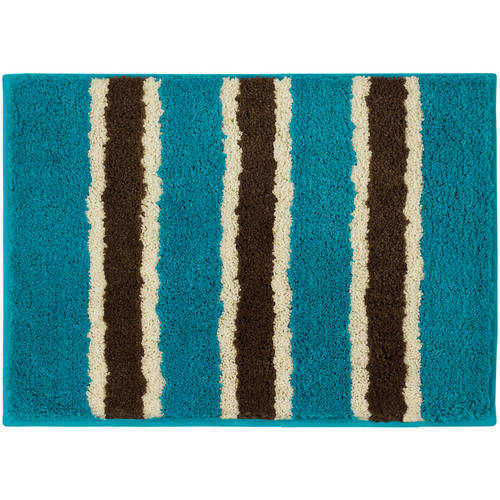 Click here to buy Bathtopia Ace Microfiber Stripe Bath Rug by YMF Carpets, Inc..