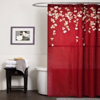 Product Image Flower Drops Shower Curtain Variants Selector Red Multicolor White