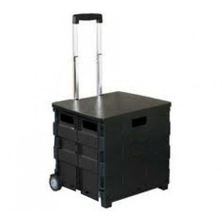 Royal Collapsible Heavy-Duty Folding Office Cart with LID Mobile Utility Filing -