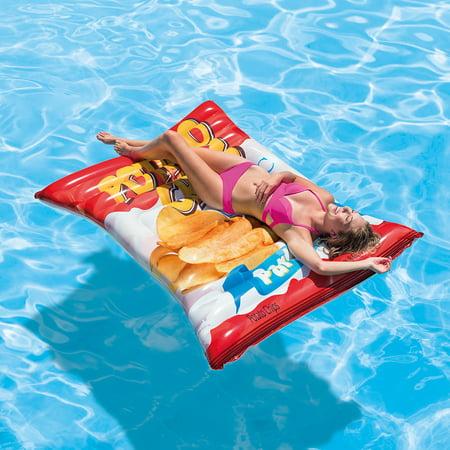Intex Inflatable Potato Chips Pool Float, 70u0022 x 55u0022