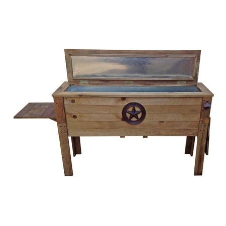 87 Quart Decorative Outdoor Wooden Cooler