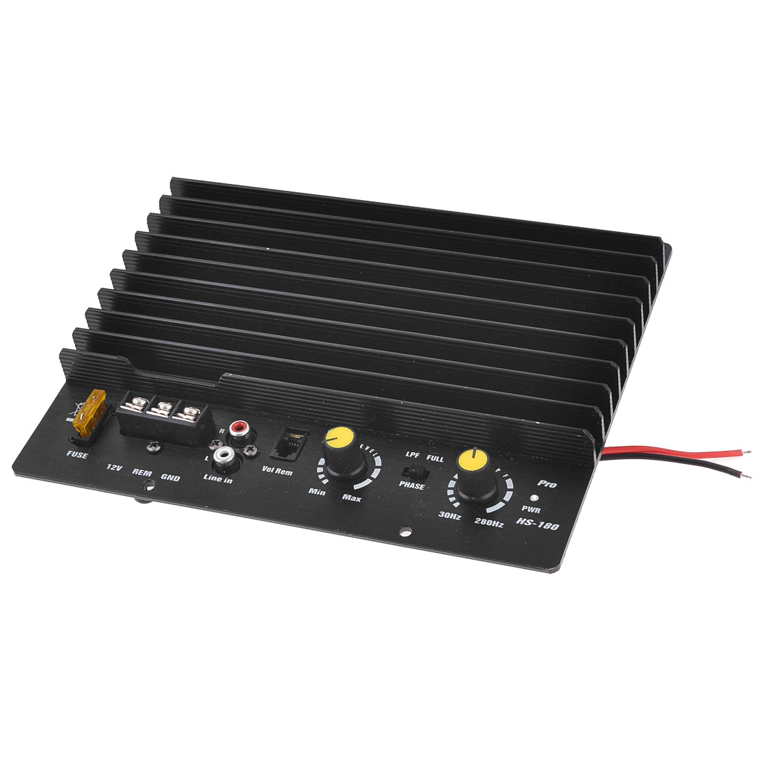 RCA Plug 2 Channel Car Auto Stereo Audio Sub Speaker Amplifier Black