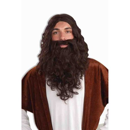 Biblical & Beard Set Halloween Costume Accessory Wig - Male Halloween Makeup With Beard