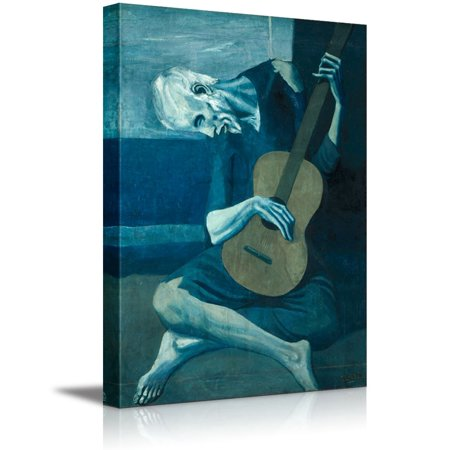 wall26 - The Old Guitarist by Pablo Picasso - Canvas Art Wall Decor - 12