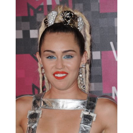 Miley Cyrus At Arrivals For Mtv Video Music Awards  Vma  2015   Arrivals 1 Rolled Canvas Art     8 X 10