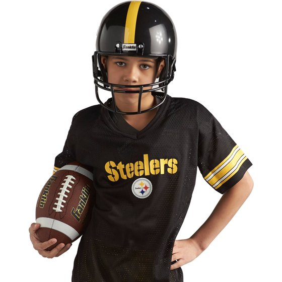 f69ac04200c Franklin Sports NFL Pittsburgh Steelers Youth Licensed Deluxe Uniform Set,  Small - Walmart.com