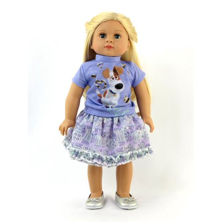 Purple Pets Inspired Skirt Outfit| 18 Inch American Girl Doll Clothes