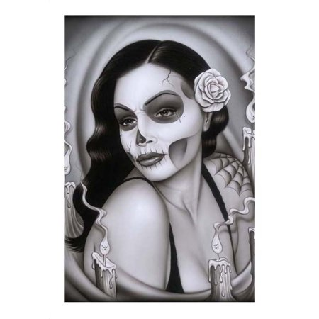 Day of the Dead Aria Spider Sexy Mexican Sugar Skull Pinup Girl Art Poster Print for $<!---->