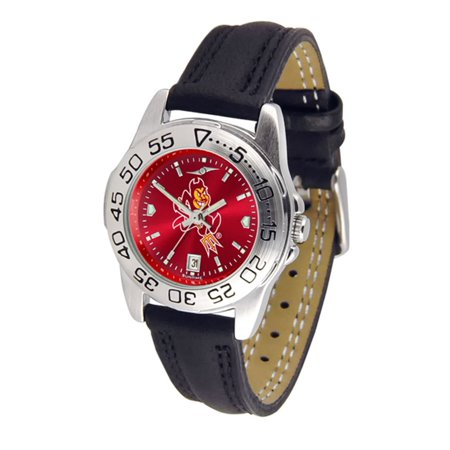 Arizona State Sun Devils NCAA AnoChrome Sport Ladies Watch (Leather Band)