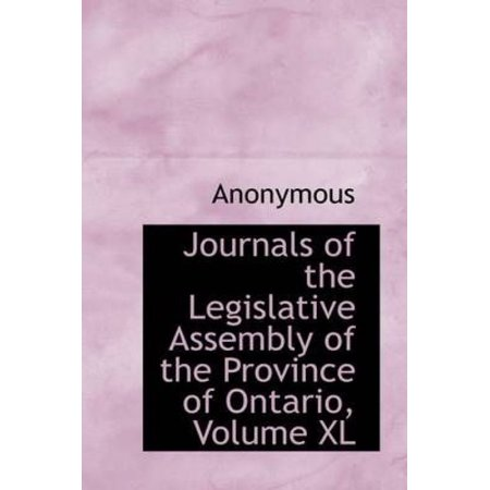 Journals of the Legislative Assembly of the Province of Ontario, Volume XL - image 1 of 1