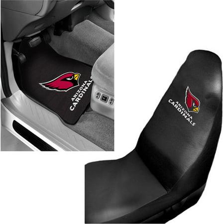 NFL Arizona Cardinals 2 pc Front Floor Mats & Car Seat Cover Bundle