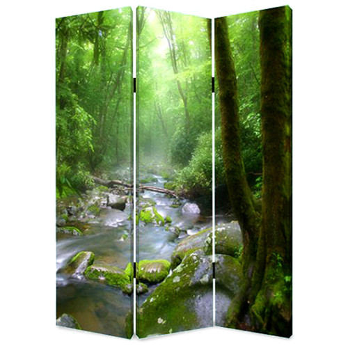 Screen Gems 72'' x 48'' Meadows and Streams 3 Panel Room Divider