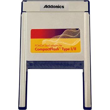 Addonics ADCFPCMCIA Addonics ADCFPCMCIA PC 3-in-1 Card Adapter - CompactFlash Type I, CompactFlash Type II, - Adapter Compactflash Type I