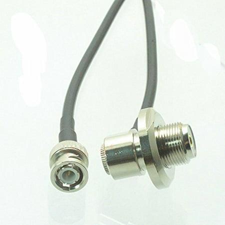 BNC plug to SO239 UHF VHF bulkhead right angle for car radio antenna mount RG58 cable 3M Quick USA Shipping
