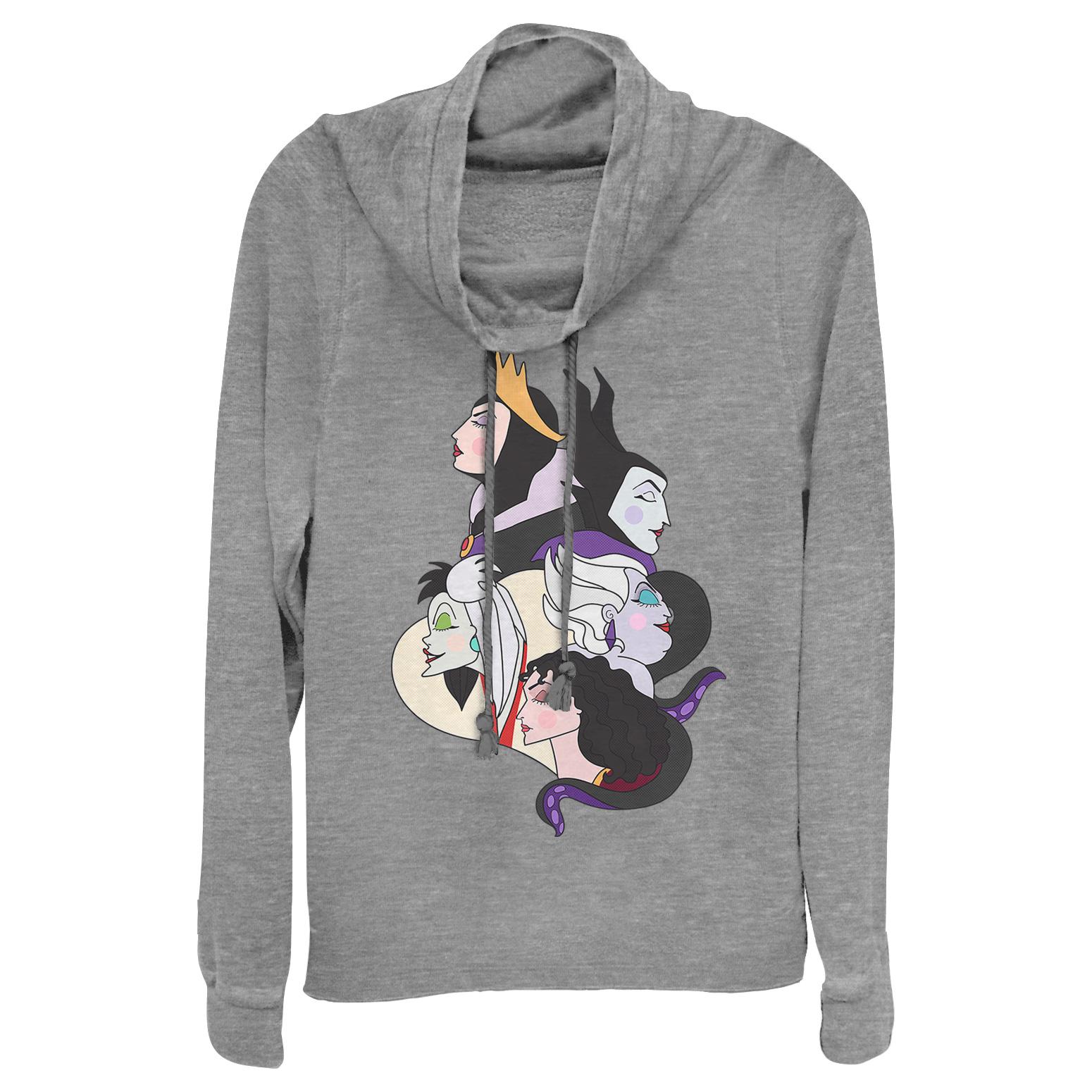 Disney Princess Juniors' Wicked Witch Profiles Cowl Neck Sweatshirt