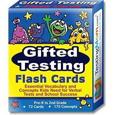 Gifted Testing Flash Cards - Practice for CogAT test, OLSAT test, ITBS test, NYC Gifted and Talented, WISC, ERB, WPPSI, AABL and more! Concepts and vocabulary for Pre-K - 2nd Grade. By TestingMom.com
