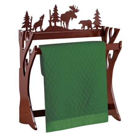 Northwoods Nature Scene Quilt Display Rack, Cabin Decor - Living Room &  Family Room Decorative Accent - Walmart com